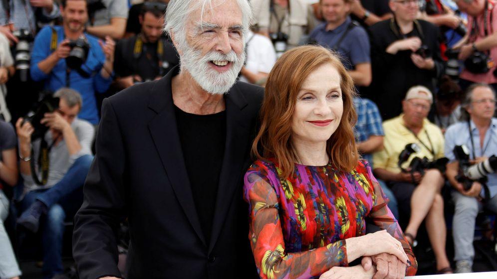 Foto: Michael Haneke e Isabelle Huppert en Cannes   Reuters