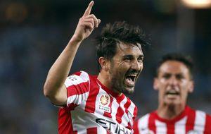 David Villa regala un punto al Melbourne City con un gol en su debut en la liga australiana
