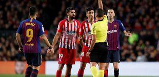 Post de La expulsión de Diego Costa por insultar al árbitro en el Barcelona - Atlético