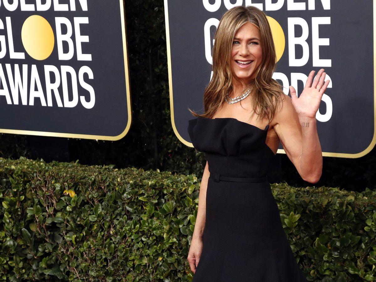 Foto: Jennifer Aniston, durante los Globos de Oro. (EFE)