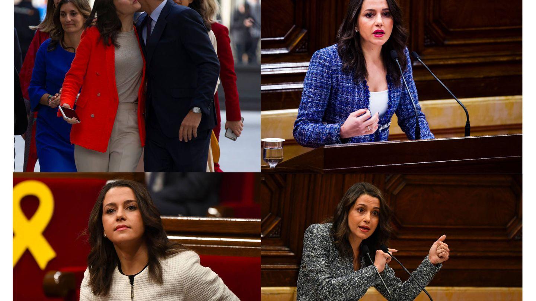 Imágenes de las chaquetas de Inés Arrimadas. En 2017, ya lucía su diseño preferido. (Getty)