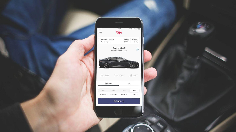 Bipi permite alquilar un coche desde el móvil y recogerlo donde queramos