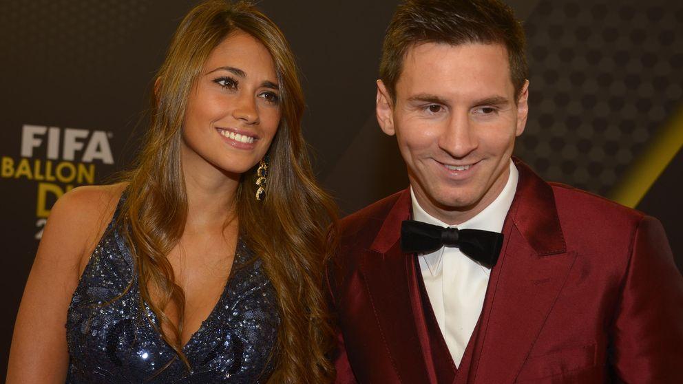 Leo Messi y Antonella Roccuzzo, en un concurso de parejas por un coche