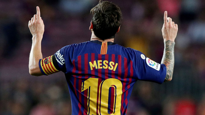Messi, con la camiseta del Barça. (Reuters)