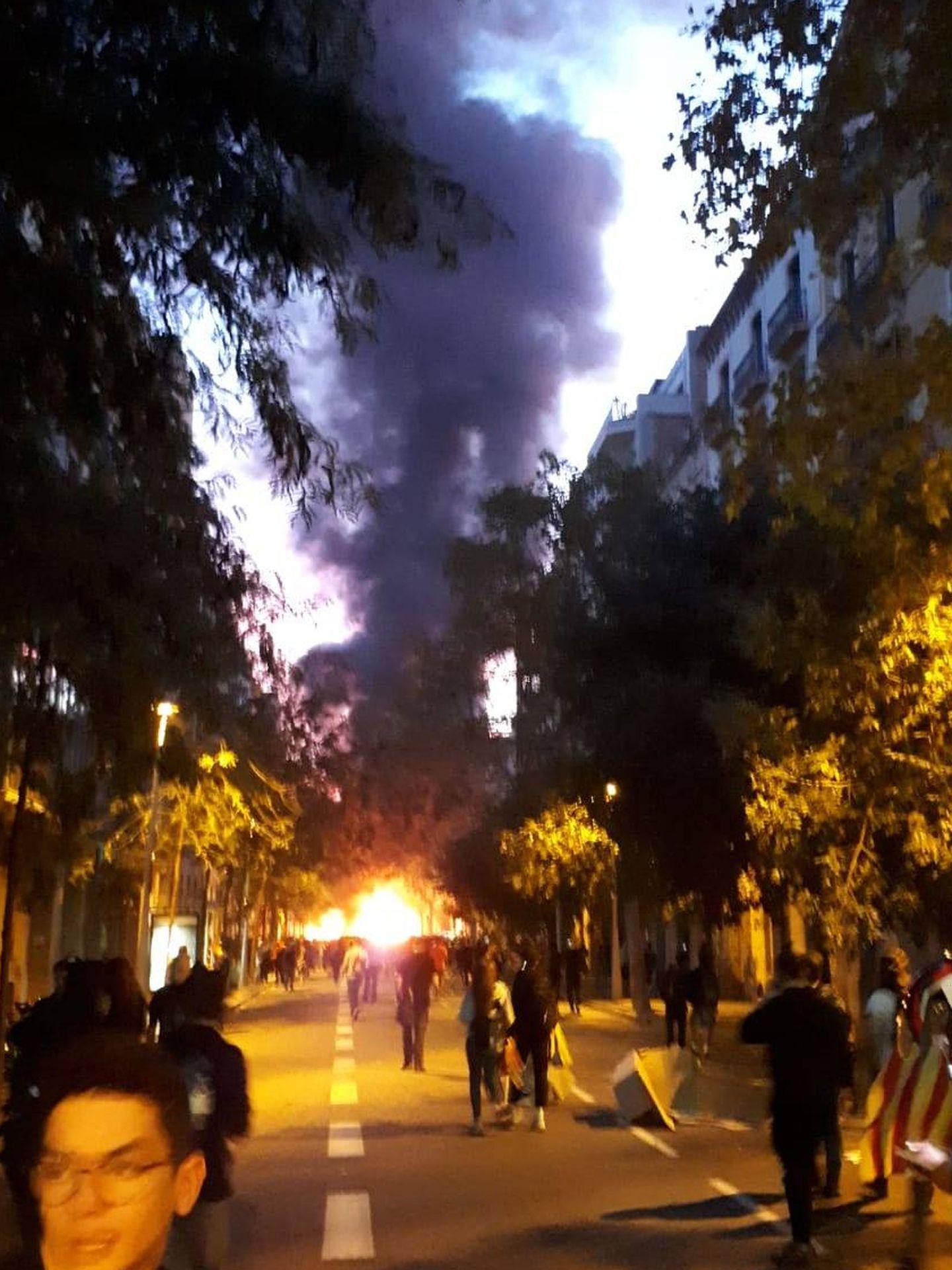 Imagen de los disturbios en Barcelona. (Rafael Méndez)