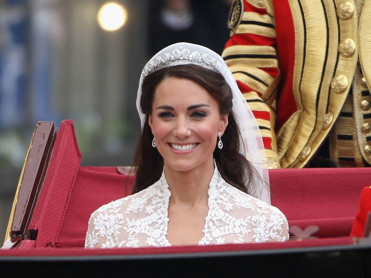 Foto: Kate Middleton, el día de su boda. (Getty)