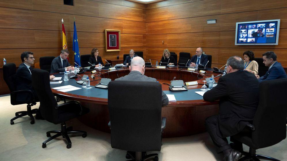 Foto: Carmen Calvo mantuvo reuniones con la cúpula de Moncloa. (EFE)