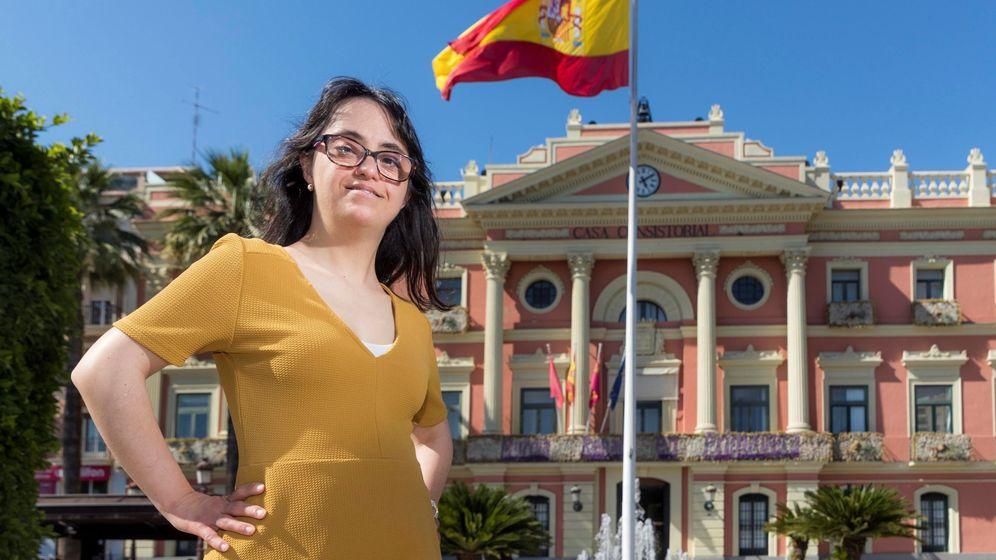 Foto: Susana Polo, con Síndrome de Down, se presentó por el PP en las listas para la alcaldía de Murcia. (EFE)
