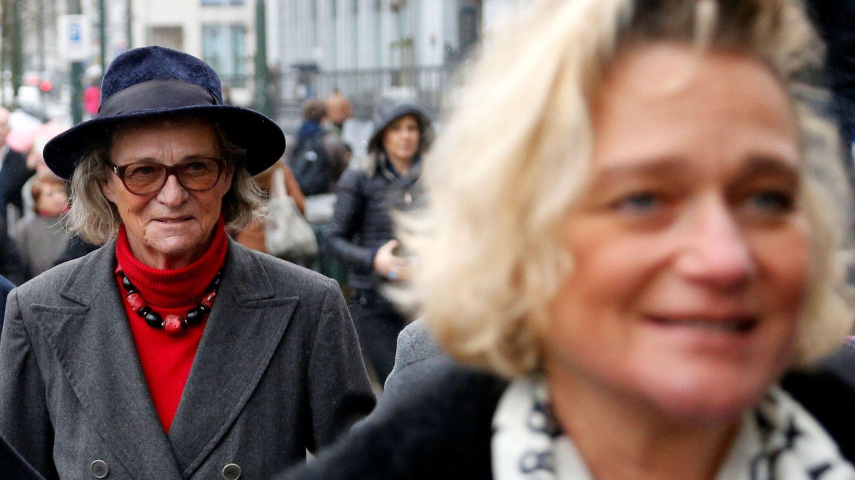 Delphine Boël, junto a su madre, Sybille de Selys Longchamps. (Reuters)
