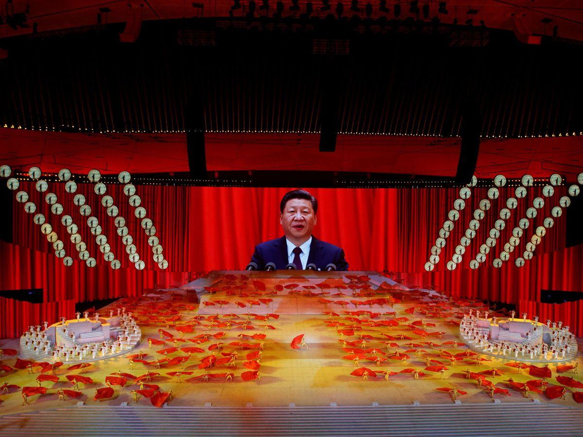 Foto: Un 'show' conmemorando el 100 aniversario de la fundación del Partido Comunista Chino. (Reuters)