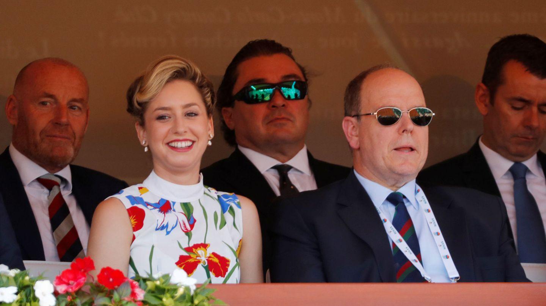Jazmin Grimaldi junto a su padre, Alberto de Mónaco. (Reuters)