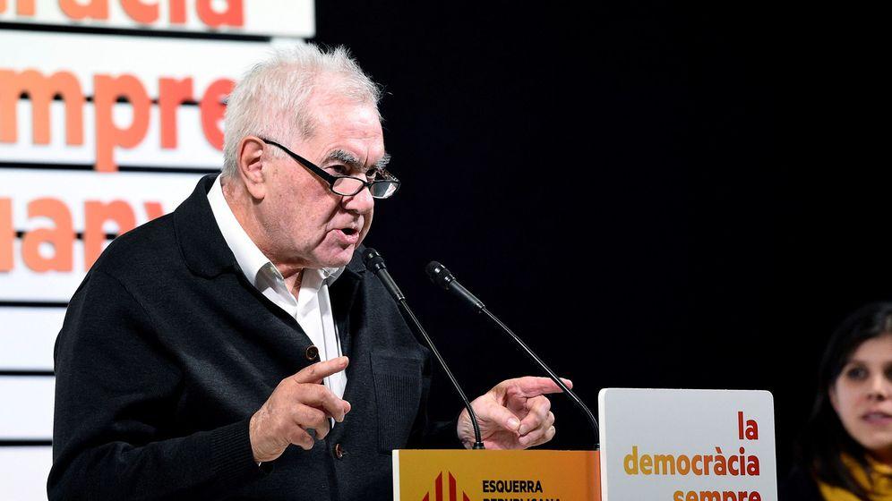 Foto: Ernest Maragall durante su intervención en el acto de campaña del partido antes de las elecciones de diciembre. (EFE)