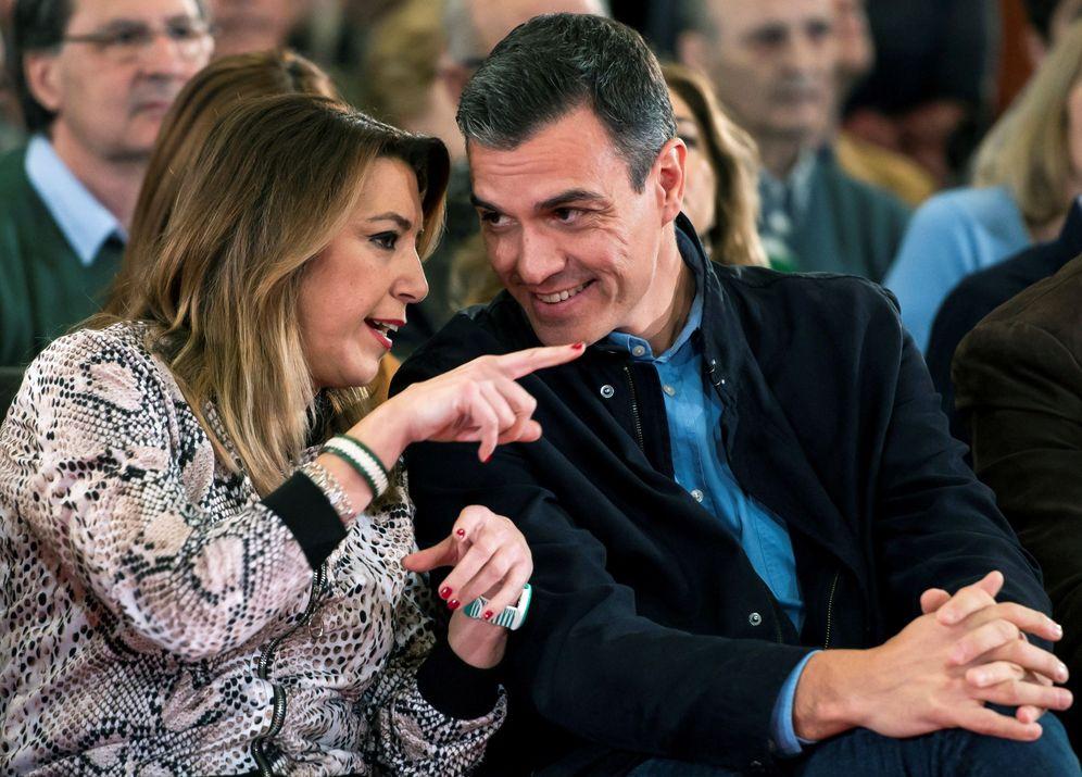 Foto: Pedro Sánchez y Susana Díaz, el pasado 16 de febrero en Sevilla. (EFE)