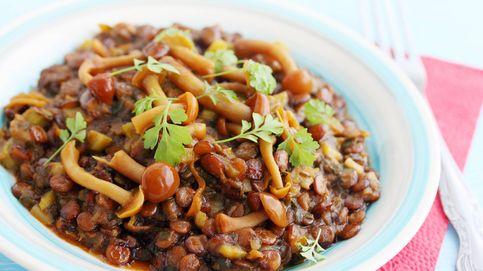 Lentejas con setas, un plato sano y muy natural