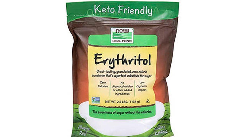 Eritritol puro de bajo impacto glucémico Now Foods