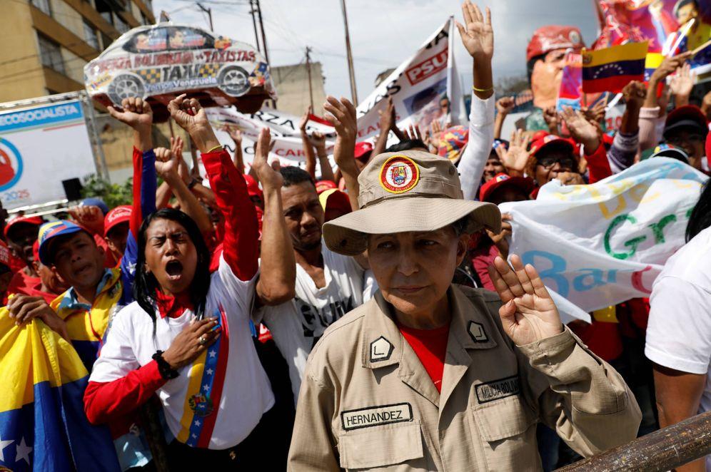 Foto: Simpatizantes de Nicolás Maduro durante una ceremonia en Caracas. (Reuters)