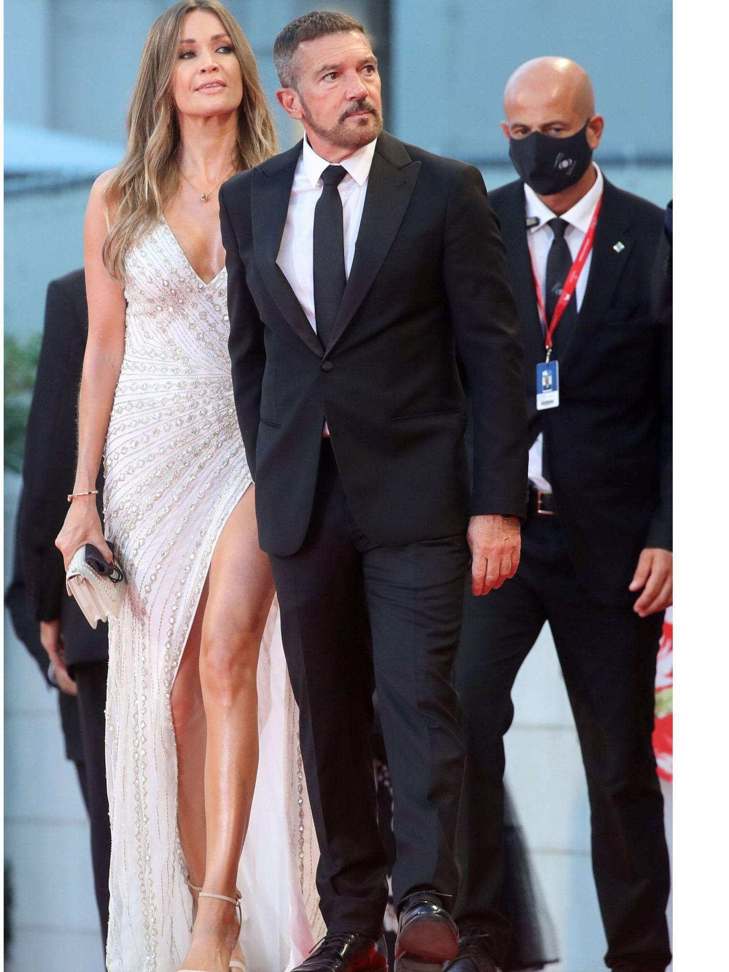 Nicole Kimpel y Antonio Banderas. (Reuters)