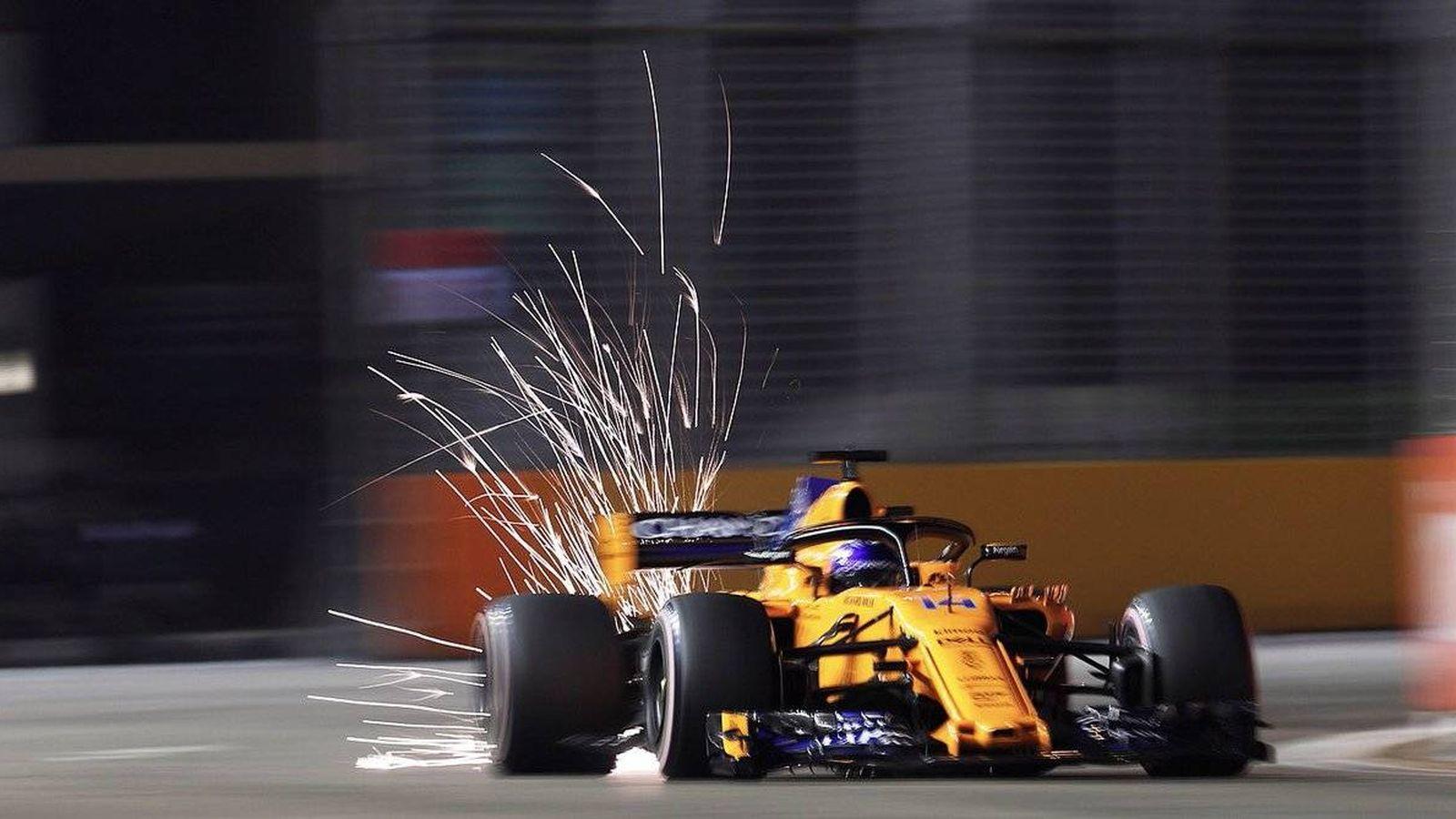 Foto: Fernando Alonso saldrá desde la undécima posición en el GP de Singapur. (Foto: McLaren)