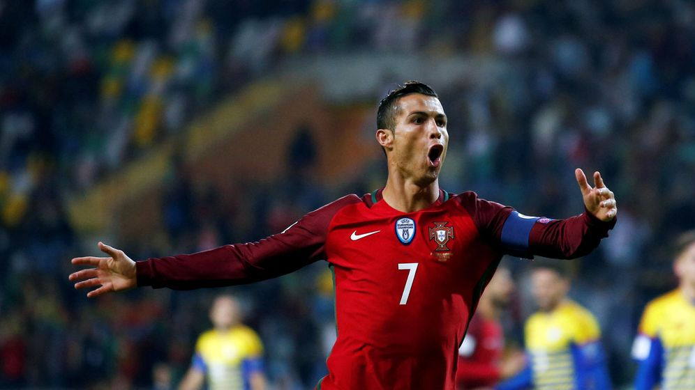 Foto: Cristiano Ronaldo celebra un gol con Portugal. (Reuters)