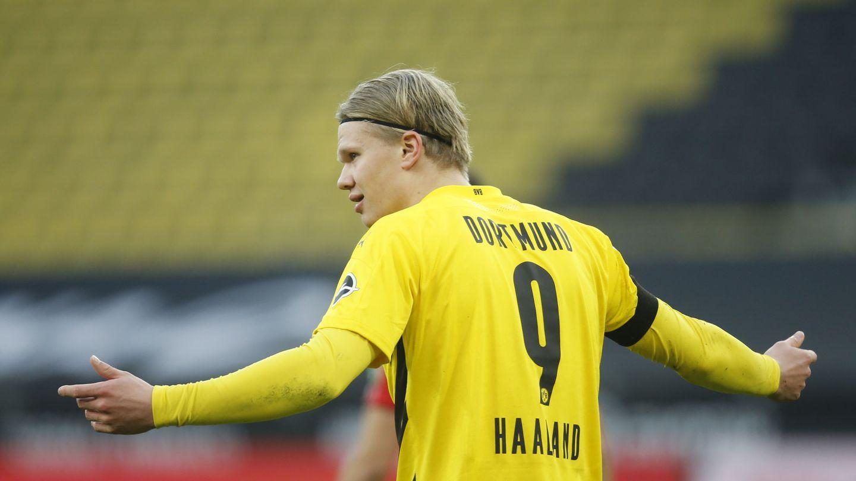 Haaland, el delantero que aspira a todo en Europa. (Reuters)