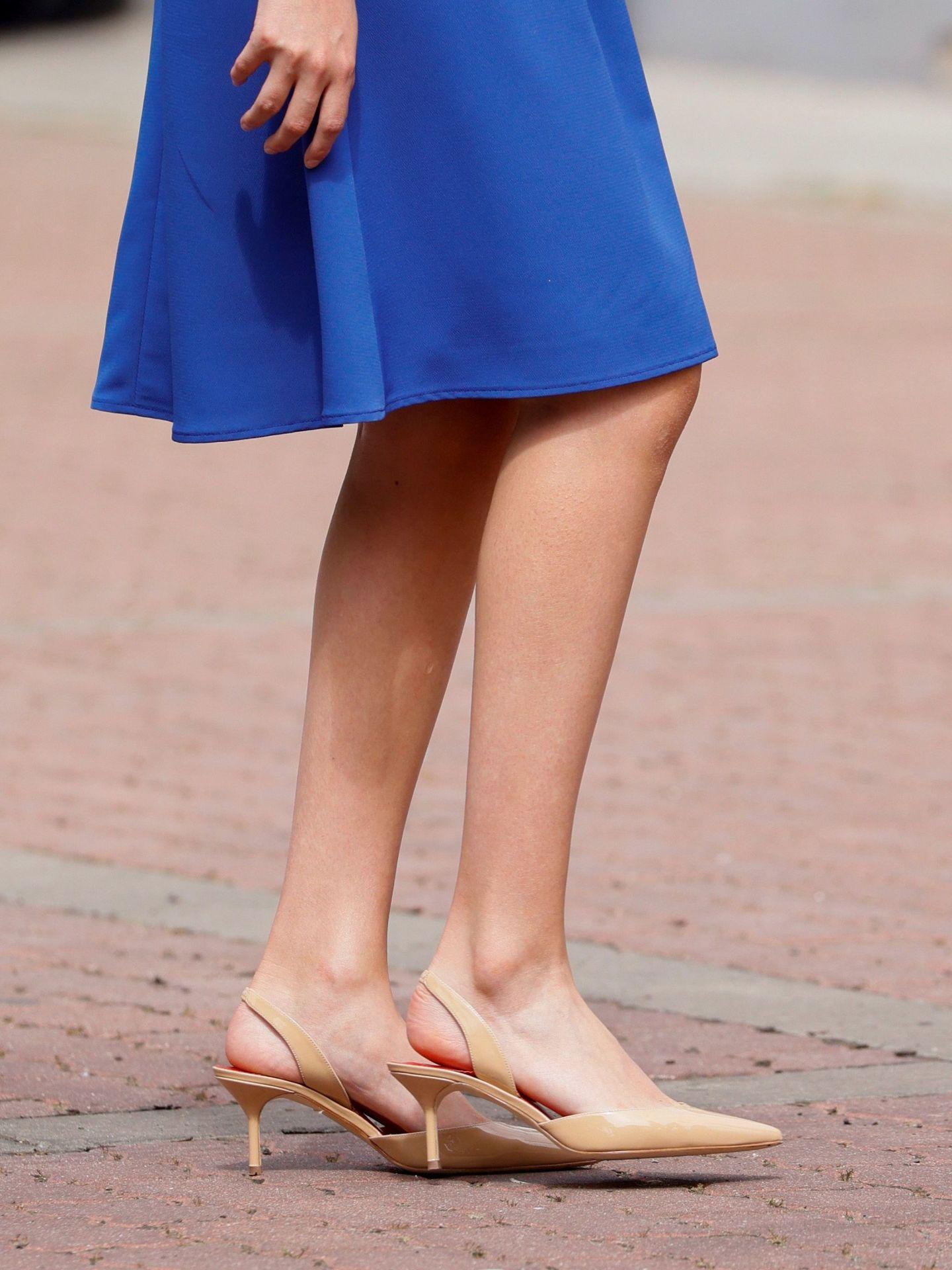 Los zapatos de la princesa Leonor. (EFE)