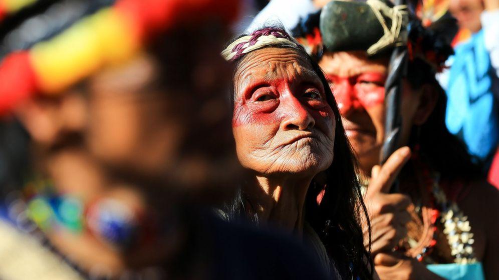 Foto: Integrantes de la etnia indígena waorani, de la amazonía de Ecuador, en una foto. (EFE)