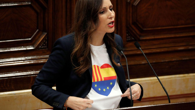 Lorena Roldán en el Parlament. (Reuters)