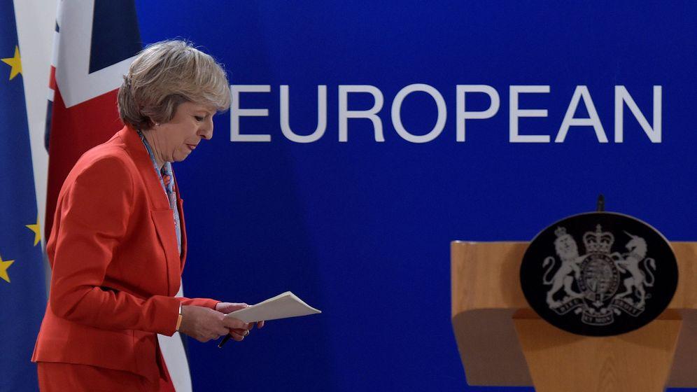Foto: La primera ministra de Reino Unido, Theresa May, en Bruselas. (Reuters)