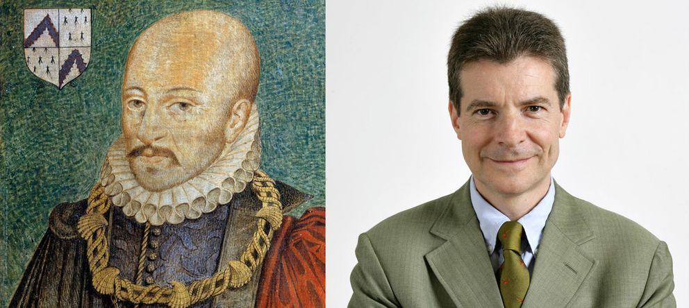 Foto: Michael de Montaigne (dch.) y Antoine Compagnon (dch.) (Corbis/Collège de France)