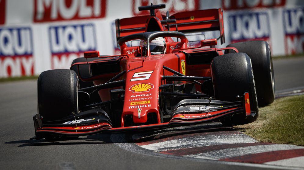 Foto: Sebastian Vettel por el asfalto de Montreal. (EFE)