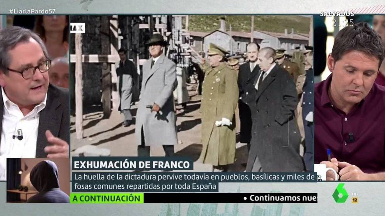 Marhuenda y Jesús Cintora discuten en plató de 'Liarla Pardo'. (Atresmedia).