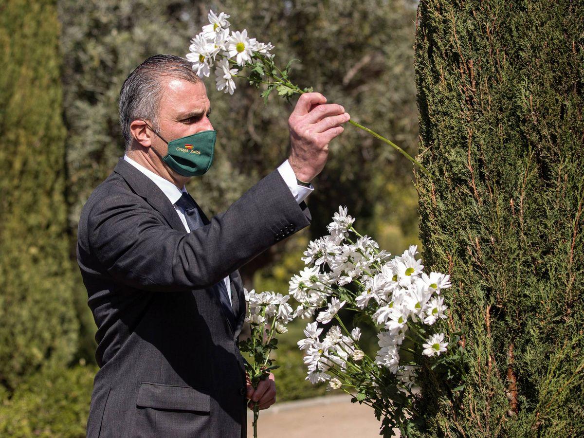 Foto:  Ortega Smith, en el homenaje a las víctimas del 11-M. (EFE)