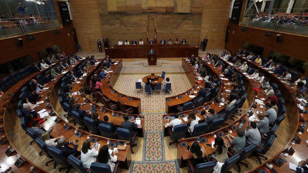 Foto: Vista general del hemiciclo de la Asamblea de Madrid. (EFE)