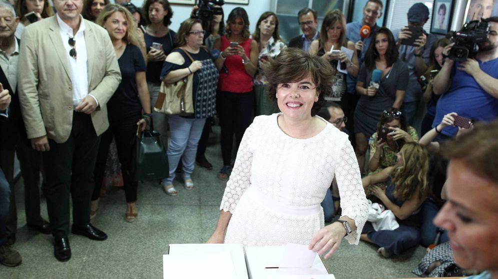 Foto: La candidata Soraya Sáenz de Santamaría. (EFE)