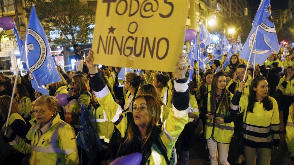 Foto: ManifestaciÓn del 8 de marzo de 2018 en Valencia. (Efe)