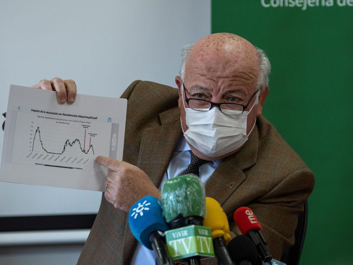 Foto: El consejero de Salud y Familias de la Junta de Andalucía, Jesús Aguirre. (EFE)