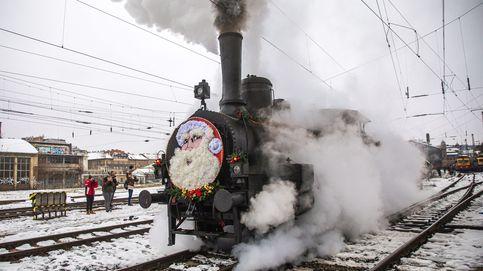 El tren de Santa Claus y maratón en Damasco: el día en fotos