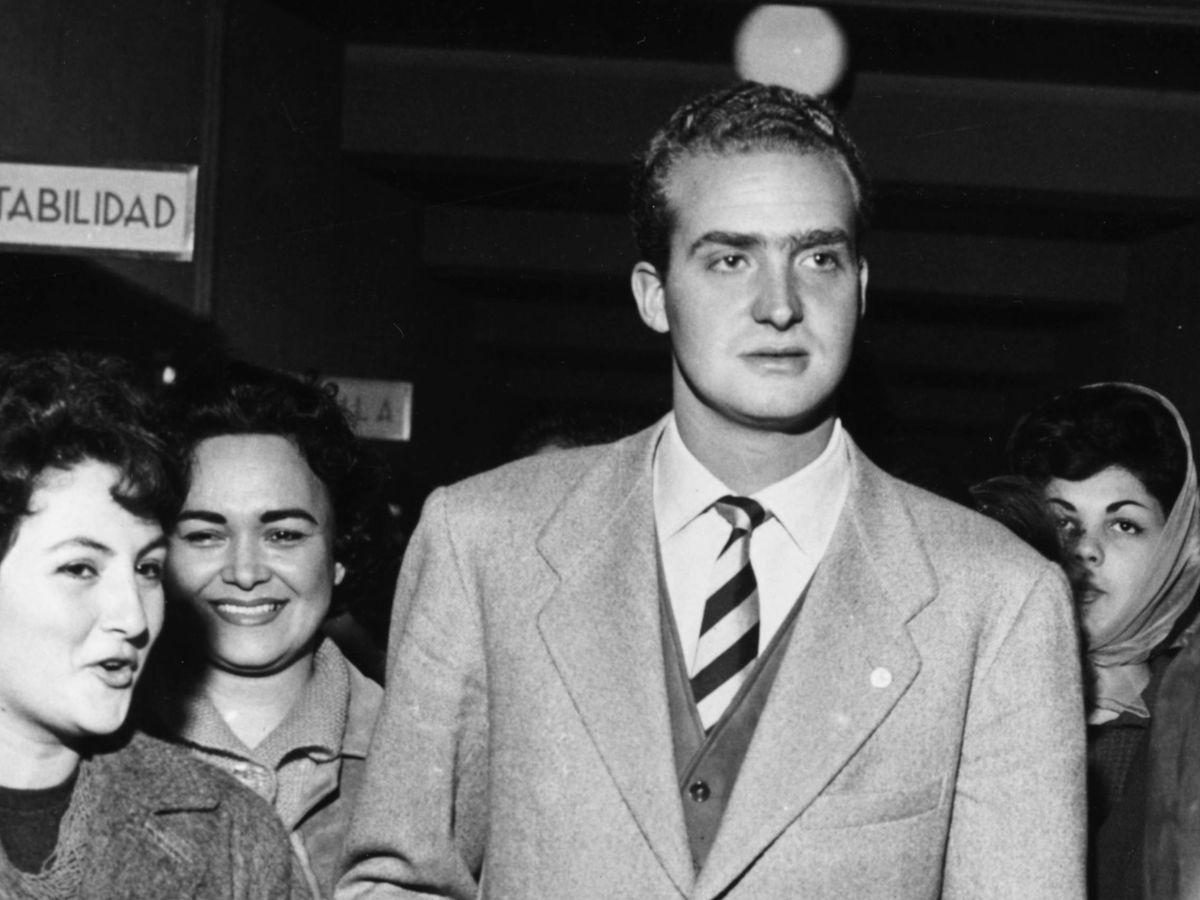 Foto: El rey Juan Carlos, en sus años de juventud. (Getty)
