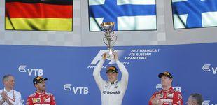 Post de Victoria agónica de Bottas y golpe a Ferrari: Sainz 10º, Alonso toca fondo