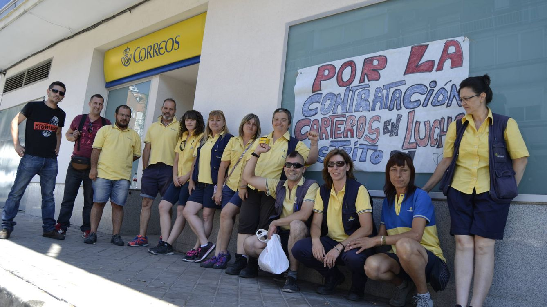 Foto: Paro de la unidad de reparto de Vallecas, en Madrid. (Foto: M. Z.)