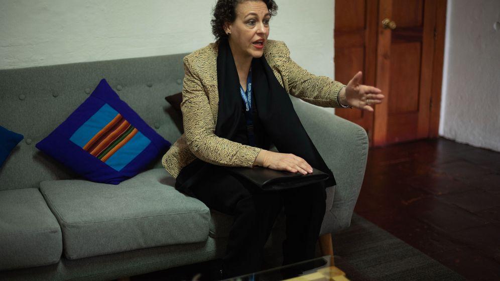 Foto: Fotografía de la ministra de Trabajo, Migraciones y Seguridad Social de España, Magdalena Valerio. (EFE)