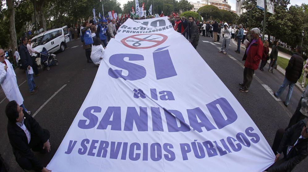 Foto: Una manifestación de Sanidad. (EFE)