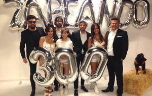 Cristina Pedroche y todo el equipo de 'Zapeando' celebran sus 300