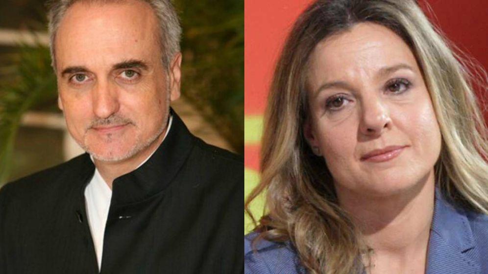 Foto: Salvador Burgos, presidente de Telemadrid y Susana Molina, periodista de TVE.