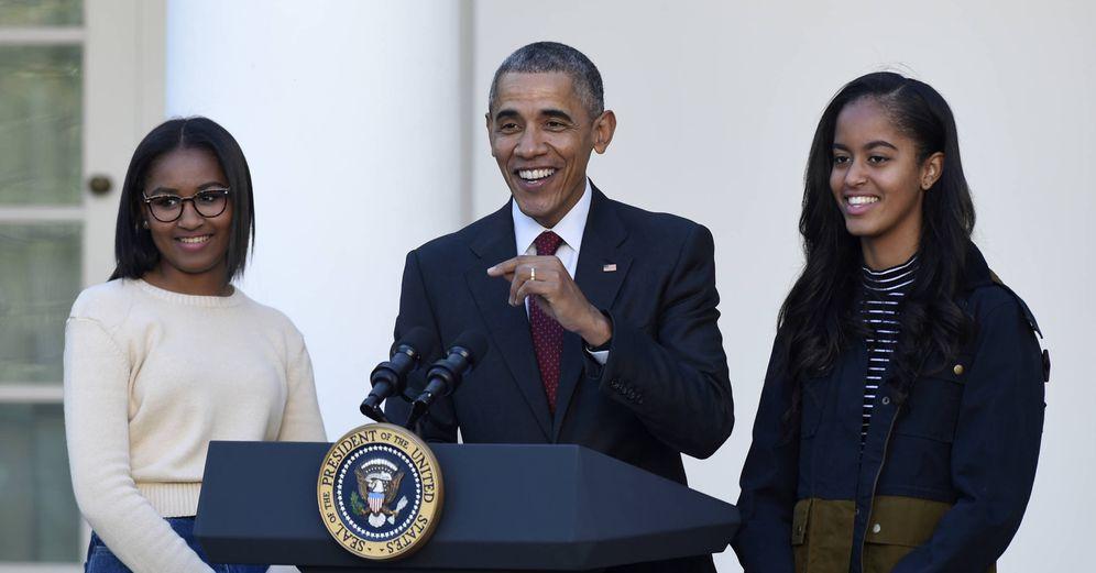 Foto: Obama y sus hijas en una imagen de archivo (Gtres)