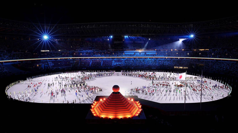 Foto: Acto de inauguración en el estadio olímpico de Tokio. (Getty)