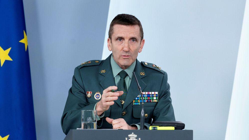 Foto: El jefe del Estado Mayor de la Guardia Civil, general José Manuel Santiago. (Efe)