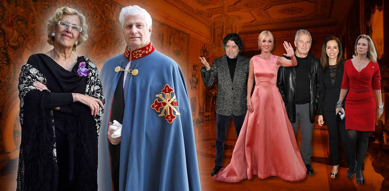 Foto: Carmena y el duque de Alba con sus invitados en un fotomontaje de Vanitatis