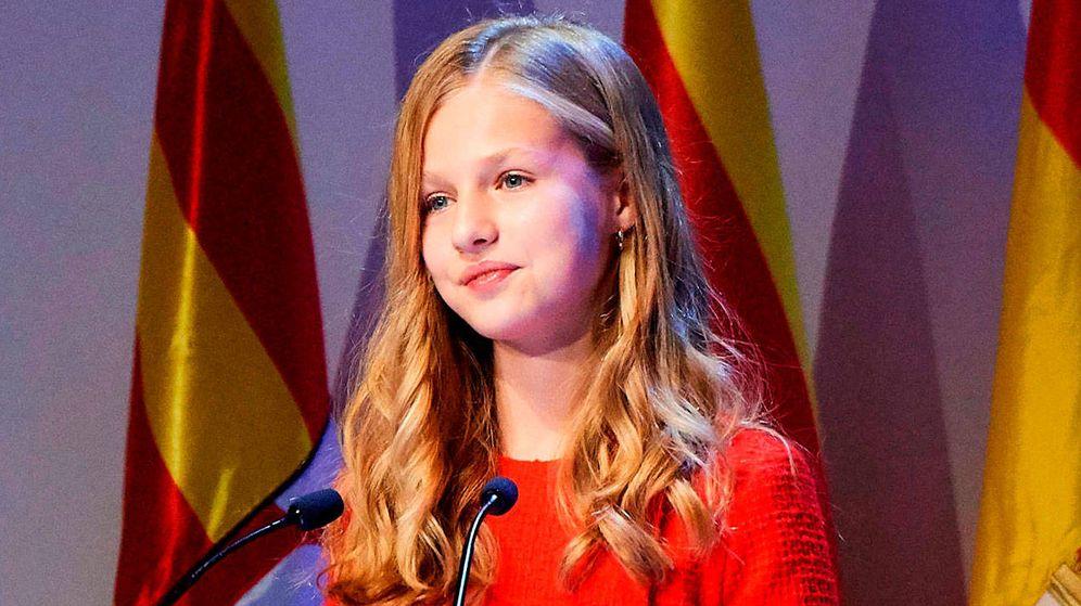 Foto: La Princesa de Asturias, en un momento de su discurso. (Limited Pictures)