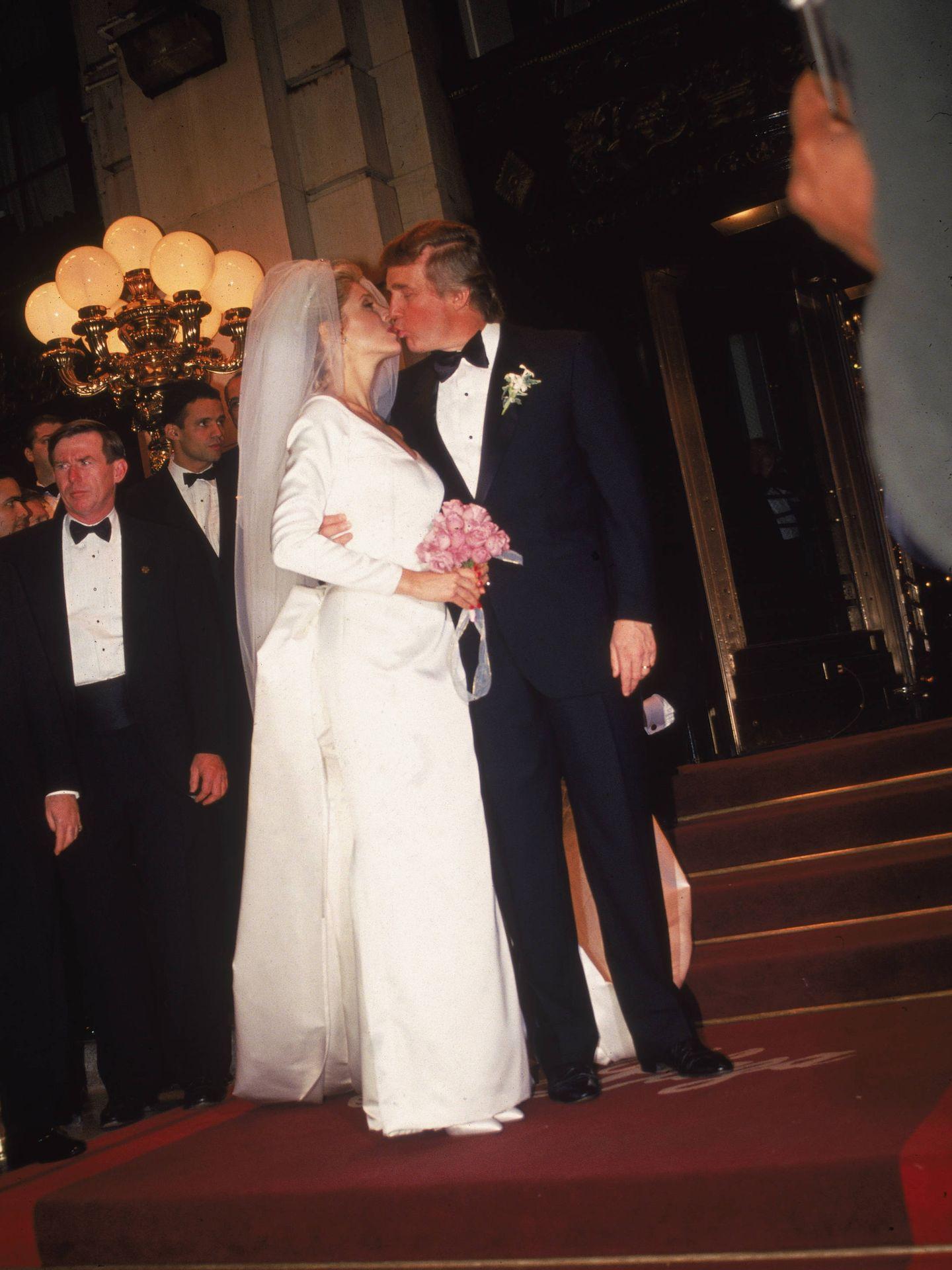 La boda de Trump y Marla Maples en 1993. (Getty)